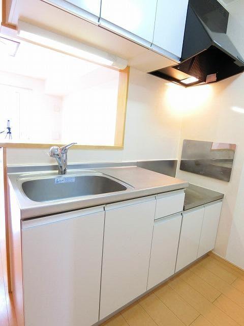 グランディールB 01020号室のキッチン