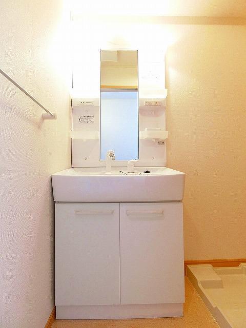 グランディールB 01020号室の洗面所