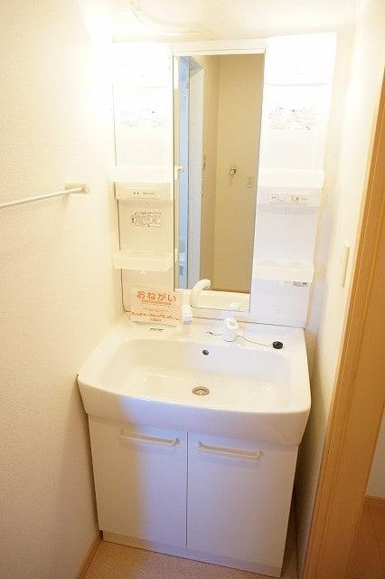 サンライズガーデンB 01020号室の洗面所