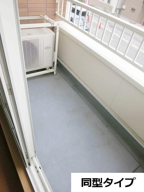 カーサ・プラシードA 201号室のバルコニー
