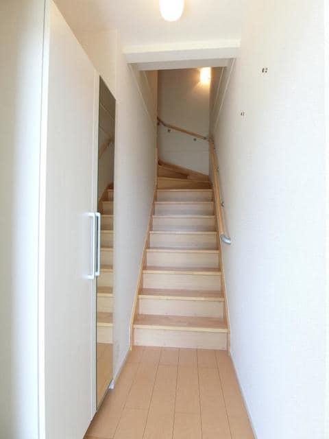 リュミエ-ルB 02010号室の玄関