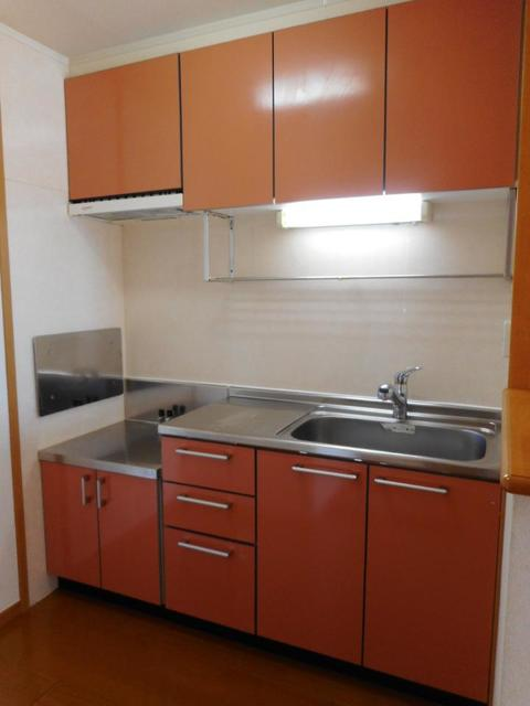 メゾン ソレイユ 201号室のキッチン