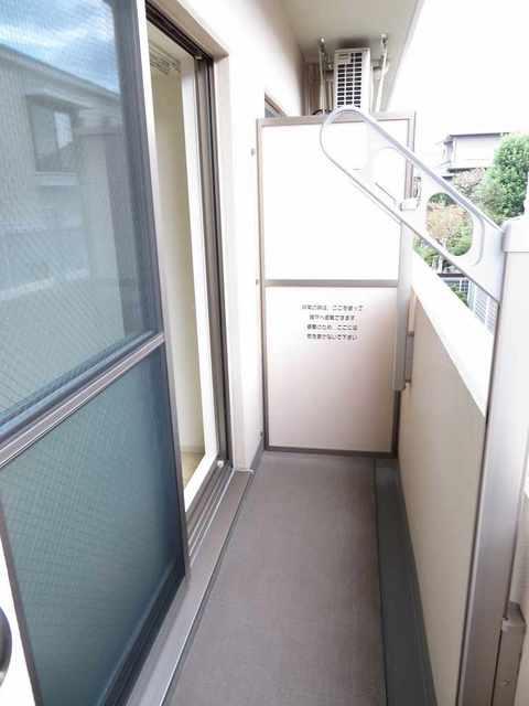 チェリーテラス 205号室のバルコニー