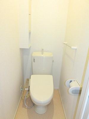 エリーサB 01010号室のトイレ