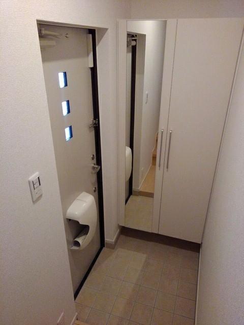 プランドール 202号室の洗面所