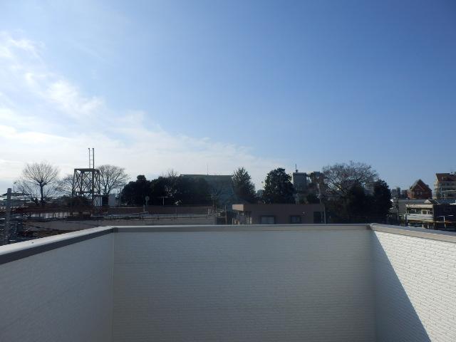 屋上のある家 Green Roofの景色
