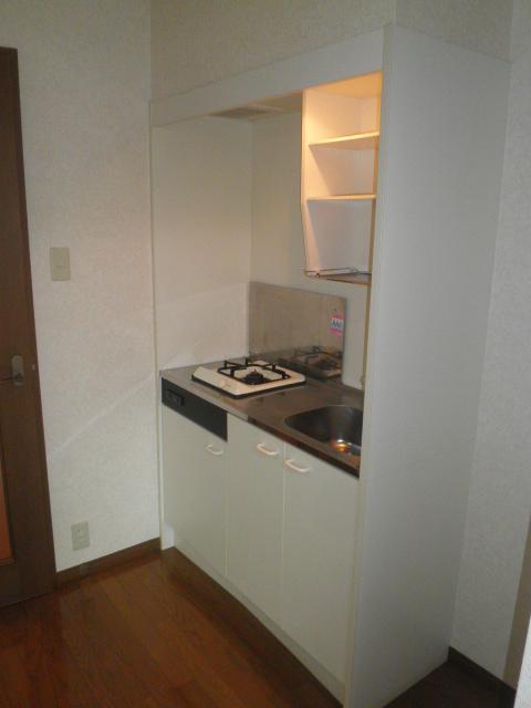 TユーミータカハナB棟 201号室のキッチン