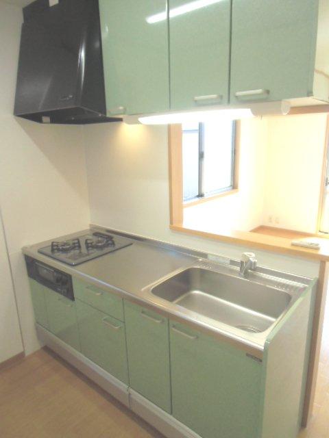 グランシャリオⅡ A 202号室のキッチン