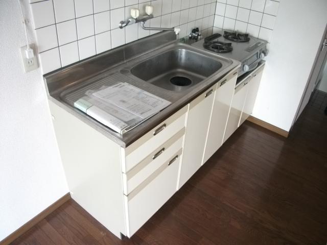 ツインパークせせらぎ西館 205号室のキッチン