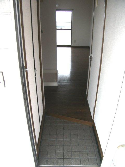 ツインパークせせらぎ西館 205号室の玄関
