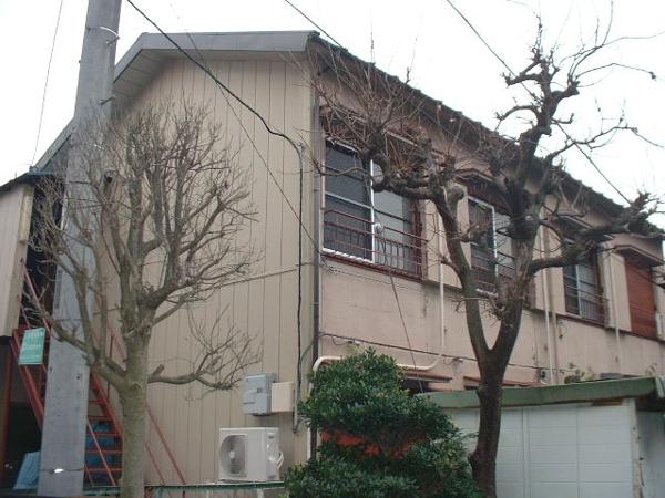 長谷川アパート 2-D号室のバルコニー