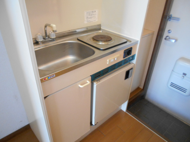 池田ハイツB 115号室のキッチン