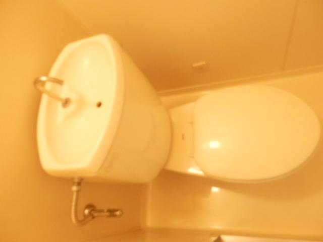 石山荘 E号室のトイレ