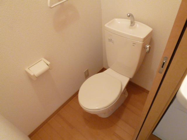 ワイハウスA棟のトイレ