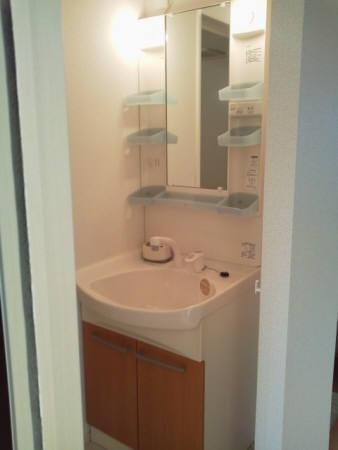 クルワシュード 301号室の洗面所