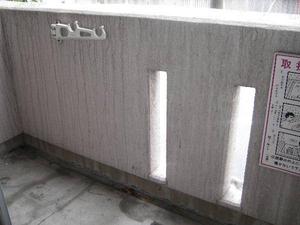 カーサ上社 105号室のバルコニー