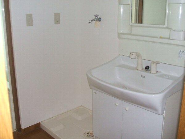 柴崎貸家1号棟の洗面所