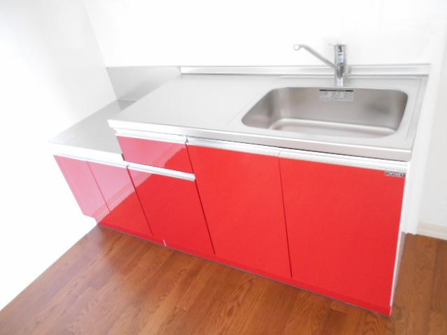 グリーンヒルB 203号室のキッチン