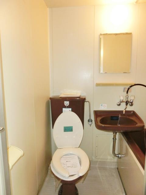 小塩マンション 3C号室のトイレ