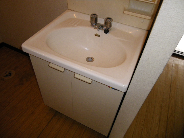 エステートなかざとD 101号室の洗面所