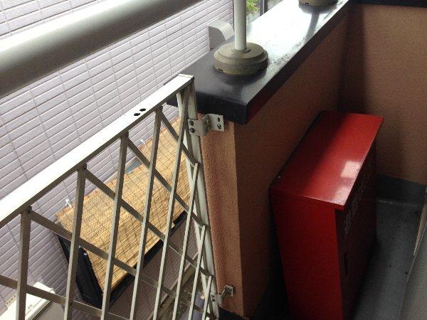 シャルム高舟台 2号室のバルコニー