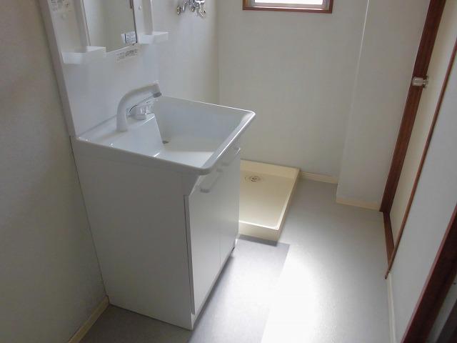クリスタル童夢 202号室の洗面所