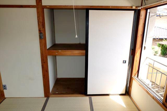 睦荘 2号室の収納