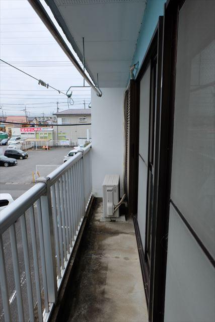 高橋ハイツ(北) 206号室のバルコニー