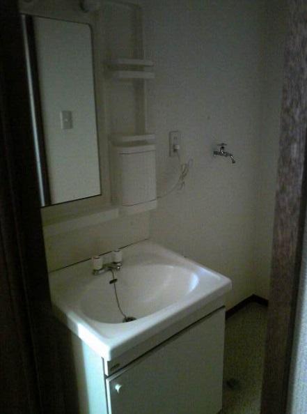 スカイハイツB棟 102号室の洗面所
