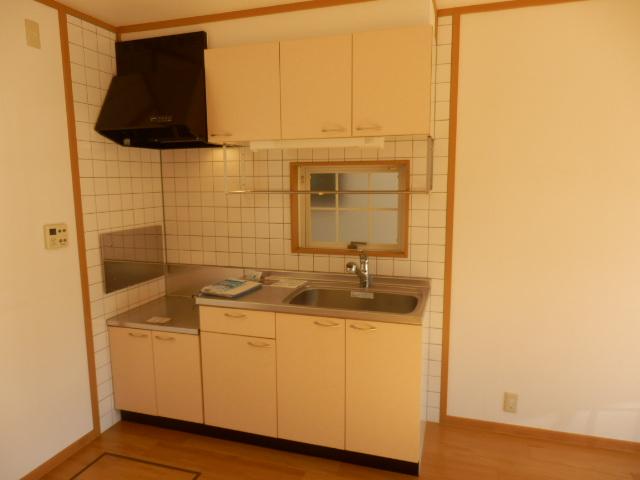 グリーンストリーム 101号室のキッチン