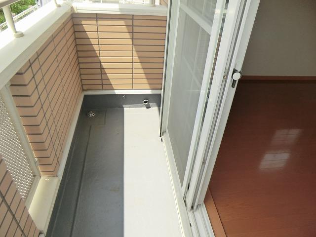 フリーデ・M 103号室のバルコニー