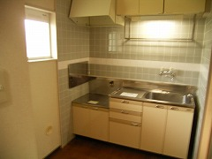リンデンハウス 01020号室のキッチン