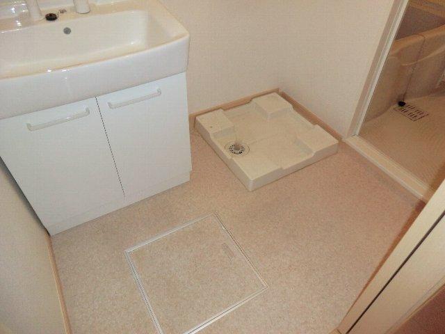 アライブ K 201号室の洗面所