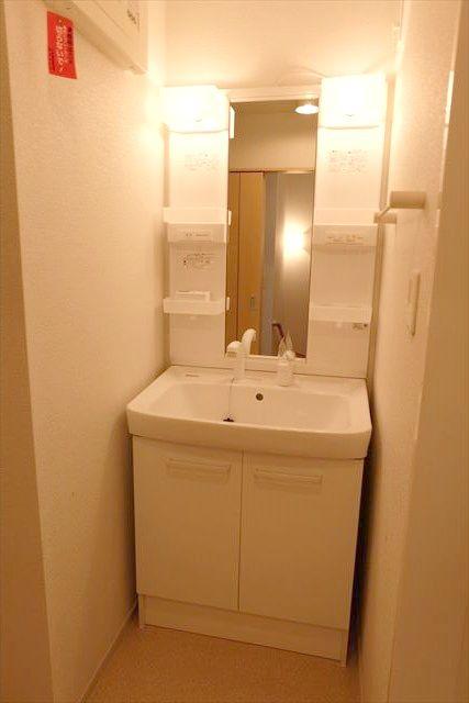 プリムローズ 101号室の洗面所
