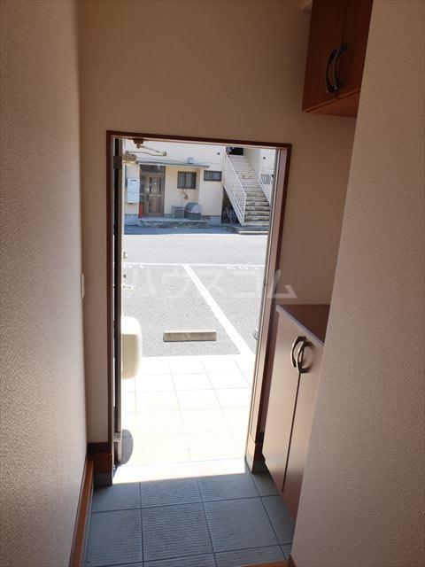 レジデンスアルタⅢ 102号室の玄関