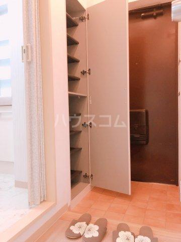 ティーハイムアサカ 203号室の玄関