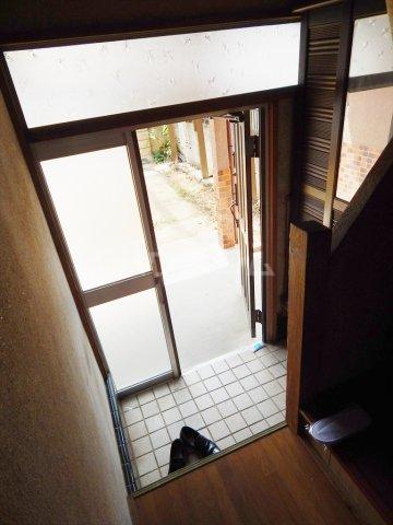 野田市木間ケ瀬貸家の玄関