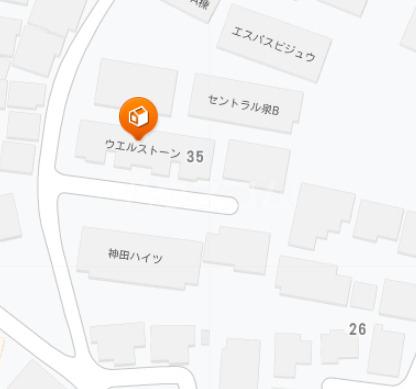 ウェルストーン 102号室の地図