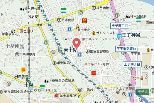 ベルファース東十条 909号室の地図