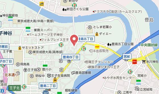 豊島ハウス 201号室の地図