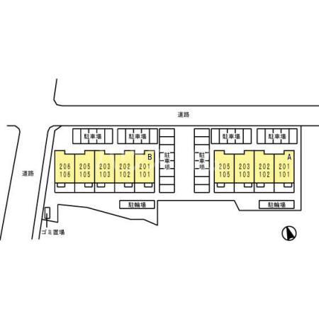 ドルチェ蒲郡栄町 B棟 105号室の駐車場