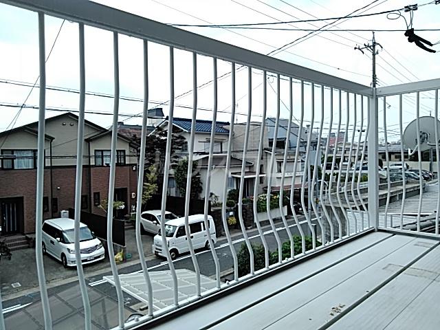 福岡借家のバルコニー