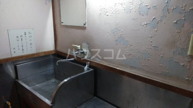 間宮荘 2号室の洗面所