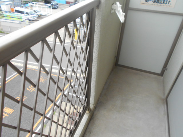 サンパティーク 4D号室のバルコニー
