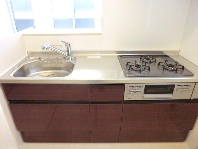 レヴァータ 203号室のキッチン