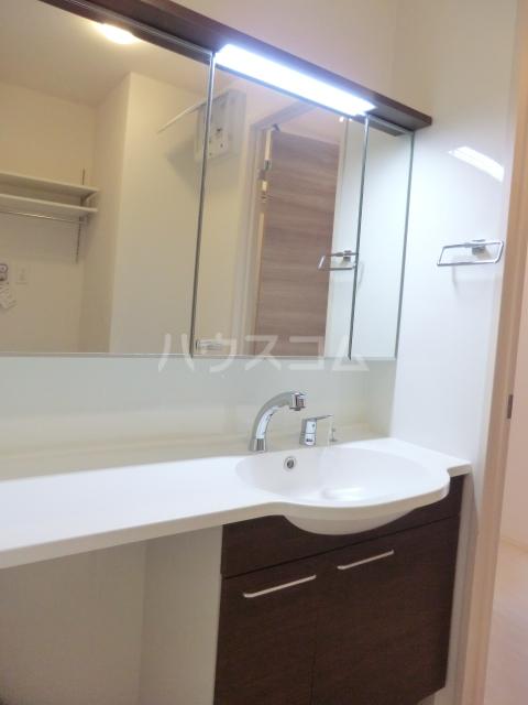 レヴァータ 203号室の洗面所