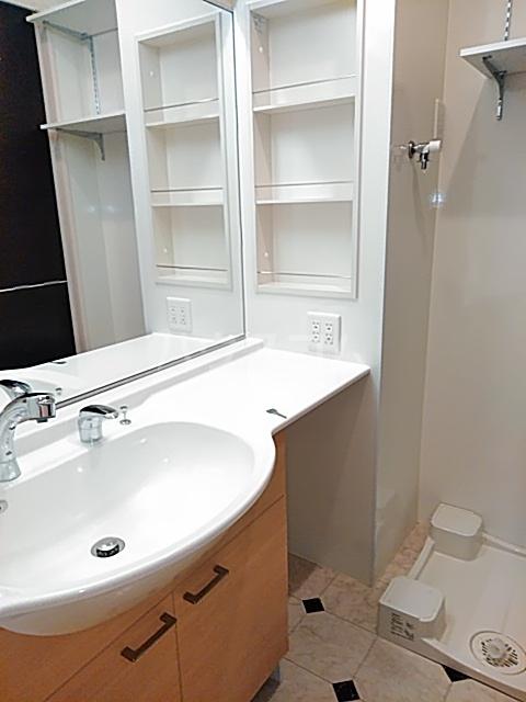 ソレイユB 103号室の洗面所