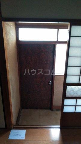 小袋荘 1号室の玄関