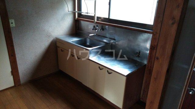 小袋荘 1号室のキッチン