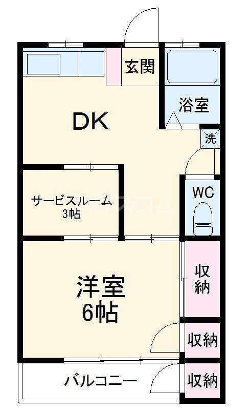 メッサージュ栗木 204号室のキッチン
